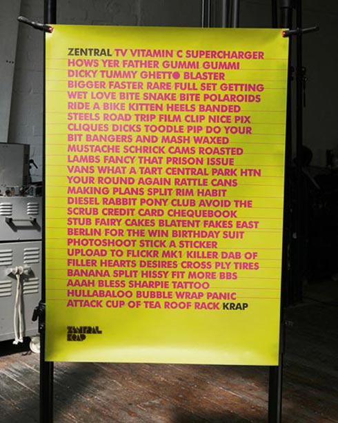 zentral Krap / We Are Central Park poster;